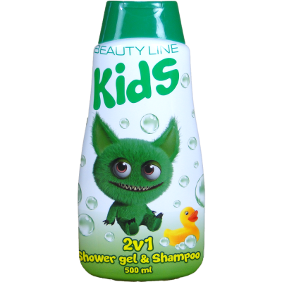 Beauty Line 2v1 s.g. a šampon Cute Monster 500 ml