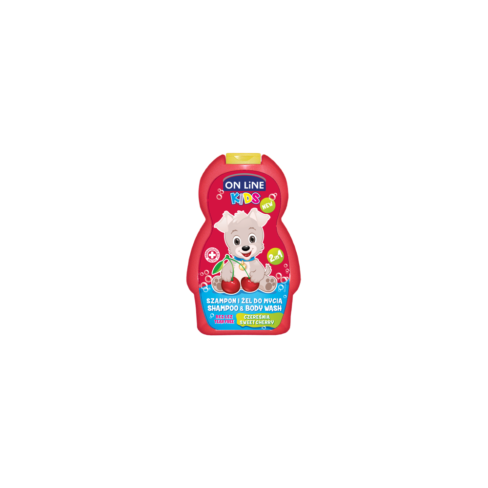 On line kids 2v1 šampón a sprchový gel NEW Sweet cherry 250 ml
