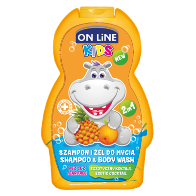 On line kids 2v1 šampón a sprchový gel NEW Exotic 250 ml