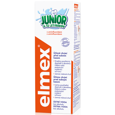 Elmex ústní voda Junior 400 ml