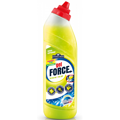 FORCE wc gel s košíkem citron 500 ml