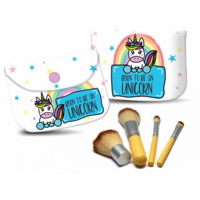 Pokhara Unicorn set štětců na make up 4 ks