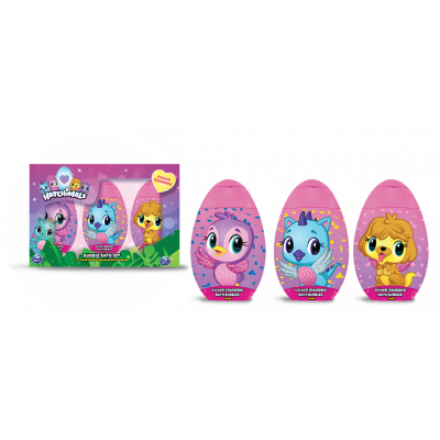Hatchimals 2D set barevných pěn do koupele 3x100 ml