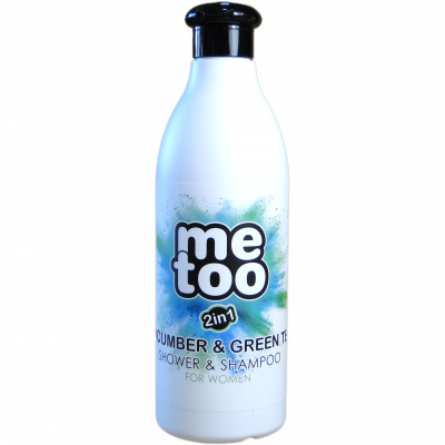Me too sprchový gel a šampon Cucumber & Green tea 500 ml