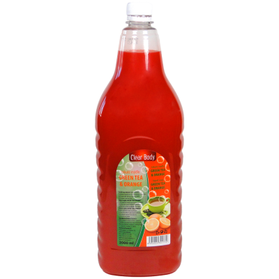Clear Body tekuté mýdlo Green tea & orange 2 L