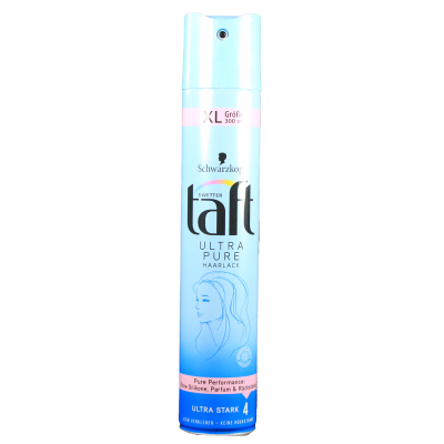 TAFT lak na vlasy ultra pure 4 (modrý) 300 ml