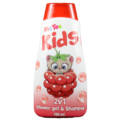 Me Too 2v1 s.g. a šampon Raspberry Kitten 500 ml
