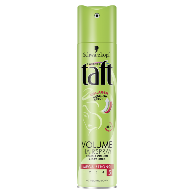 TAFT lak na vlasy PUSH-UP s Colagenem 250 ml