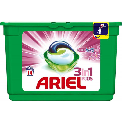 Ariel kapsle na praní 14 ks Lenor color fresh